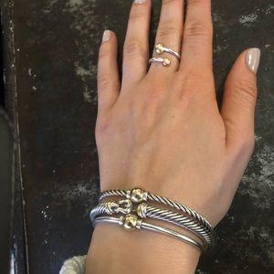 Authentic David Yurman Two tone bracelet